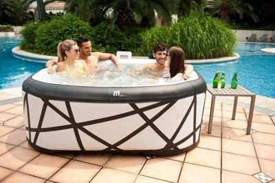 MSPA SOHO Spa 6 Seater Square Grey Blow-Up Hot Tub Jacuzzi