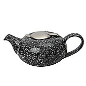 London Pottery Pebble Filter Teapot 0.5 Litres 2 Cup in Gloss Black
