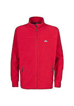 Trespass Mens Bernal Fleece Jacket Granite 3XL - Red