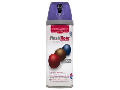 Plasti-kote Twist & Spray Satin Sumptuous Purple 400ml