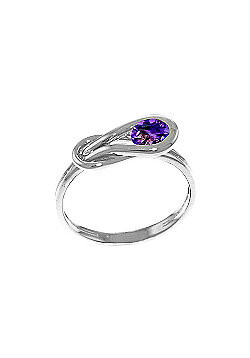 QP Jewellers 0.65ct Amethyst San Francisco Ring in 14K White Gold