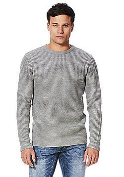 F&F Waffle Knit Jumper - Grey
