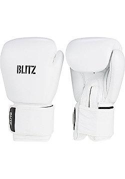 Blitz - Standard Leather Boxing Gloves - White