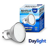Minisun GU10 5w 10 SMD LED Bulb 6000k 520 Lumens Frosted Lens