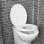 Family Seat Georgia Toilet Seat Polypropylene White