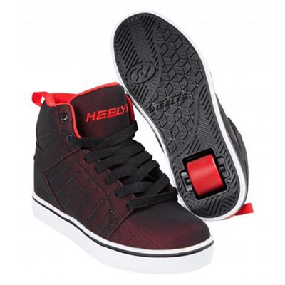 Heelys Black/Red Super Mesh Kids Heely Shoe JNR 12