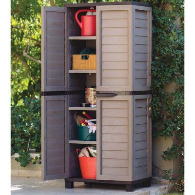 Mocha Tall Outdoor Storage Cabinet - Buy Mocha Tall Outdoor Storage Cabinet From Our Garden Storage