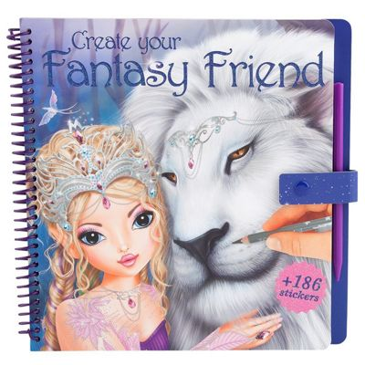 Fantasy Model & Friends Colouring Book With Scratch Sticker