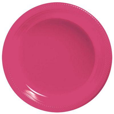 Magenta Plates - 23cm Plastic