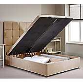 Appian Ottoman Divan Bed Frame - Mink Chenille Fabric - Single - 3ft 0