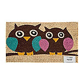 Homescapes Coir Owl Love Doormat