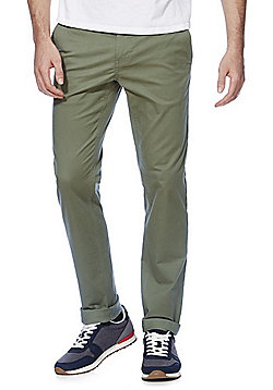 F&F Stretch Slim Fit Chinos - Khaki