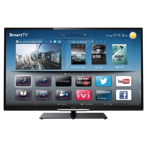 Philips 32PFL4208T 32 Inch Smart WiFi Built In HD Ready 720p LED TV With Freeview HD