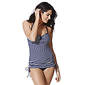 F&F Striped Tankini Swimsuit - Navy & White