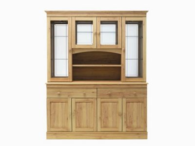 Caxton Driftwood 152 cm Display Cabinet in Limed Oak