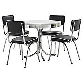 Rydell Dining Table and 4 Chair Set, Black