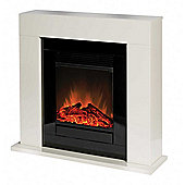 Ventosa VNS15 Free-Standing Fire Suite with Integral Optiflame® Log Effect Electric Fire, Stone Effect