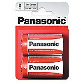 10 x 2 Pcs Pack Panasonic R20R-2BP D Size Zink Carbon Battery (20 Batteries)