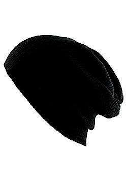 Black Slouch Beanie - Multi