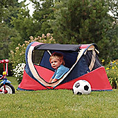 NSAuk Deluxe Pop Up Travel Cot Large Red 0-4 Years