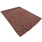 Pebble Felt Cranberry Rug - 110x170cm