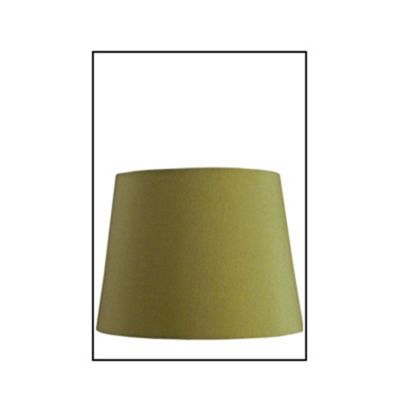 Moss Green Faux Silk 10 inch Drum Shade