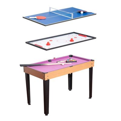 Homcom 3 In 1 Multi Games Table Billiards Pool Table Tennis Hockey Table  Top With Accessories