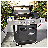 Outback Lumina 4 Burner Premium Gas BBQ with Side Burner and Cover