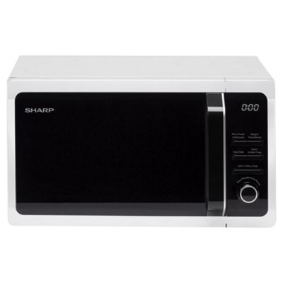 Sharp R664SLM 20L Freestanding Microwave with Grill - White