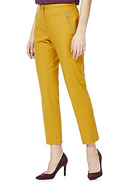 F&F Slim Fit Ankle Grazer Trousers - Mustard yellow