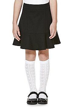 F&F School Frill Hem Jersey Skirt - Black