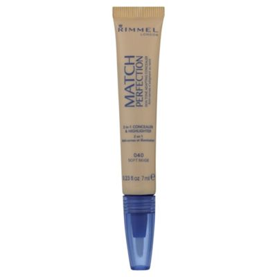 Rimmel Match Perfection Illuminating Concealer Soft Beige