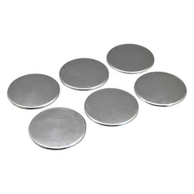 Round Drinks Coasters in Silver - 100mm - Pack Of 6