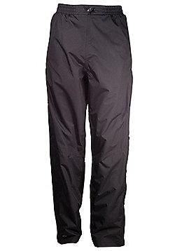 Mens Downpour Waterproof Breathable Rain Motorcycle Hiking Trousers - Black