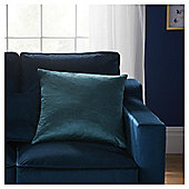 Fox & Ivy Petrol Teal Velvet Cushion