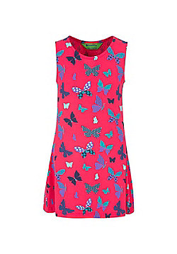 Mountain Warehouse Summertime Girls Printed Dress - Lightweight & Easy Care - Coral