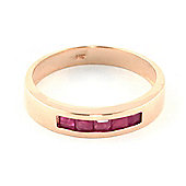 QP Jewellers 0.60ct Ruby Princess Prestige Ring in 14K Rose Gold