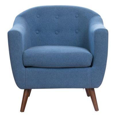 Sofa Collection Loire Fabric Tub Chair - Blue