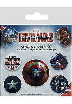 Captain America Civil War Badge Pack - Multi