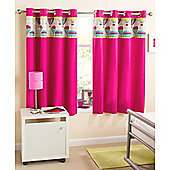 Enhanced Living Horizon Eyelet Pink Curtains - 66x54 Inches (168x137cm)