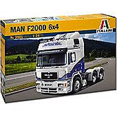 Italeri Man F2000 6X4 Air Roof 3901 1:24 Truck Model Kit