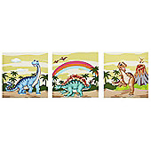 Fantasy Fields by Teamson Dinosaur Kingdom Canvas Wall Art Set