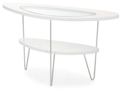 BDI Drop Gloss White Console Table