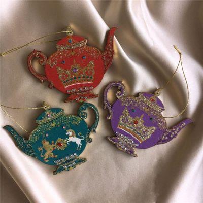 Set of Regal Teapot Decorations