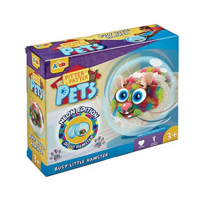 Pitter Patter Pets Busy Little Hamster Neon Edition Multi
