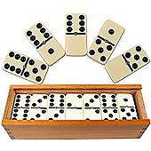 Precision Professional Erinoid Set Club Dominoes / Raised Pin & Wood Box