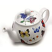 Roy Kirkham Butterfly Garden Bone China 6 Cup Teapot