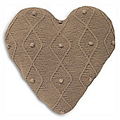 Riva Home Argyll Taupe Cushion Cover - Heart Shape
