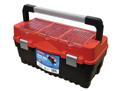Faithfull Cantilever Tote Tray & Organiser Lid Toolbox 21in