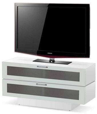 High Gloss White 2 Tier TV Stand For Up To 50 inch TVs
